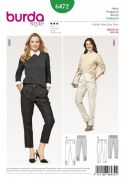 6472  Ladies Pleated Trousers